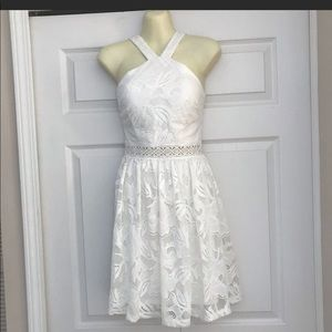 Francesca's small white lace dress! New with tags!